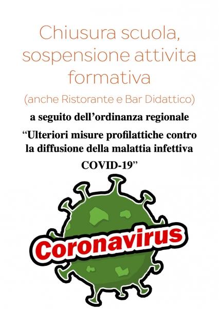 Chiusura scuola e sospensione attività formative Coronavirus 2019